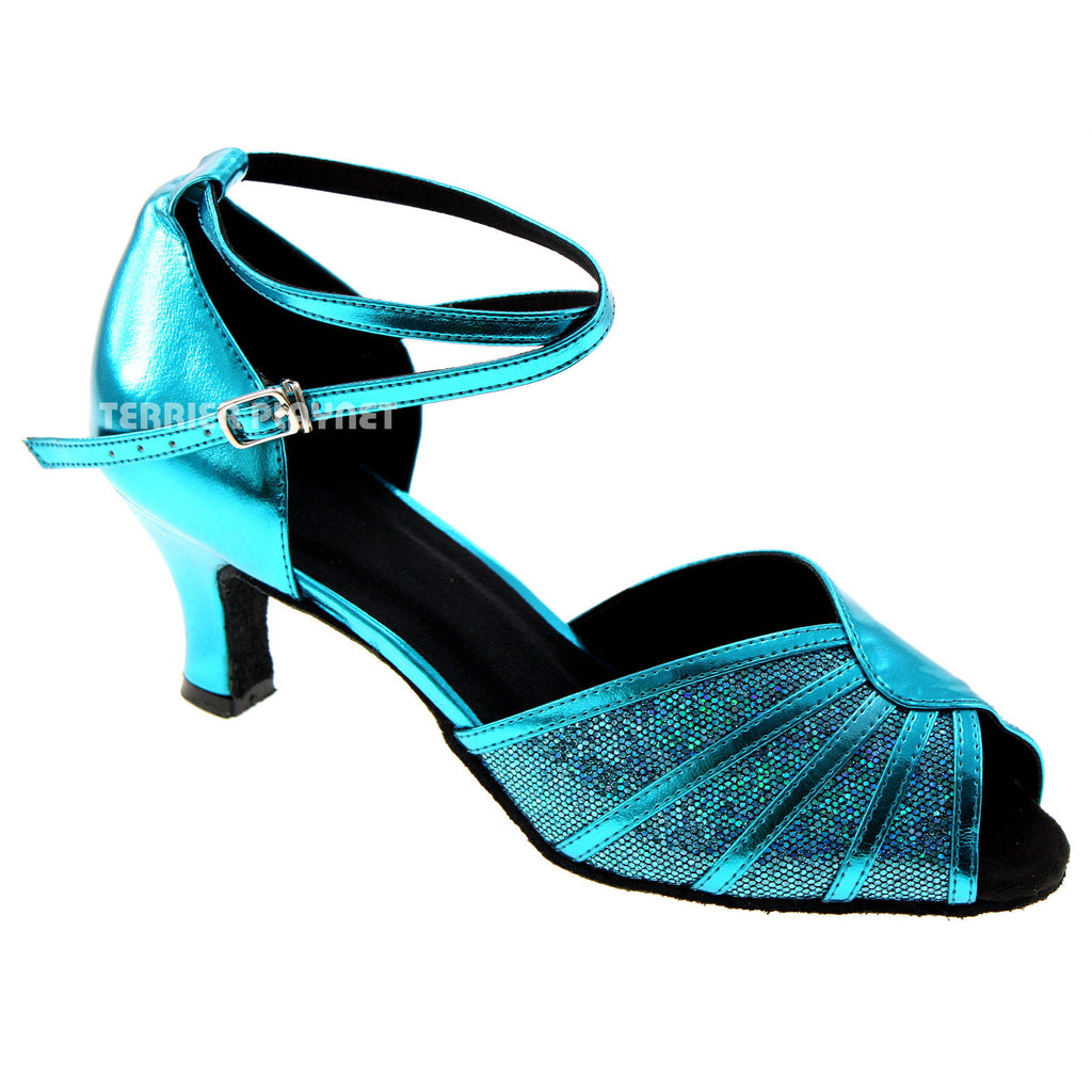 Light Blue Women Dance Shoes D537