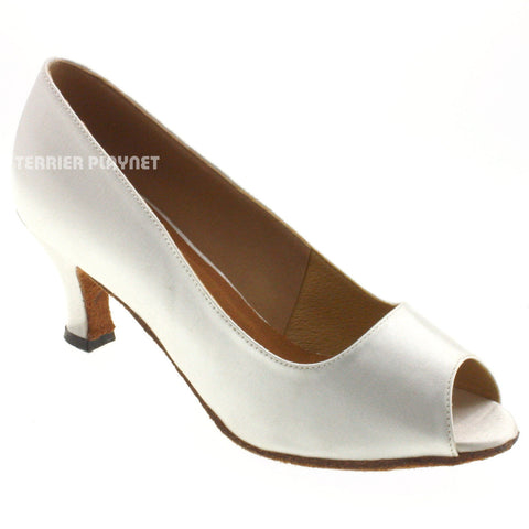 White Women Dance Shoes D550