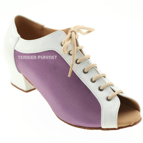 White & Light Purple Women Dance Shoes D562