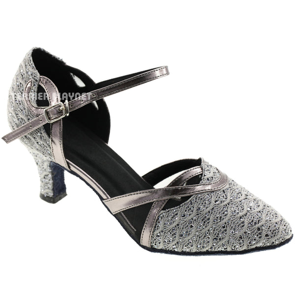 Gray Women Dance Shoes D579