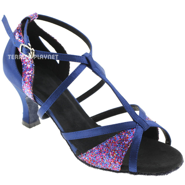 Blue Women Dance Shoes D591