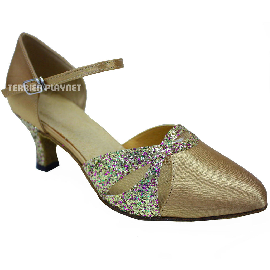 Gold Women Dance Shoes D639