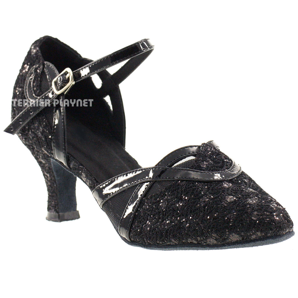 Black Women Dance Shoes D64