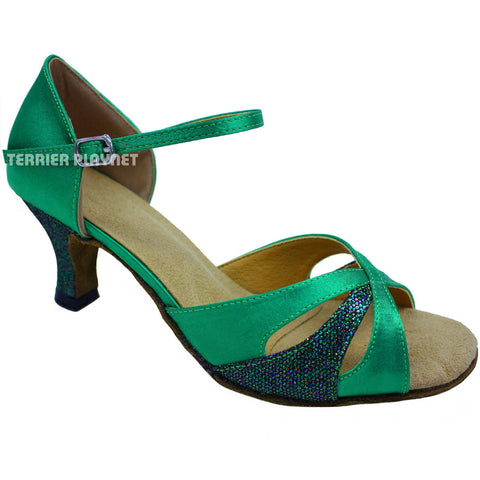 Green Women Dance Shoes D665