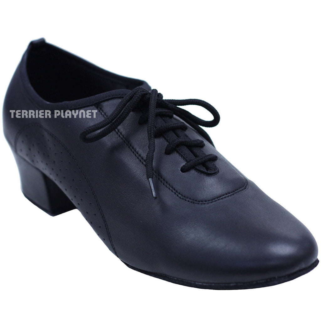 High Quality Black Leather Women Dance Shoes D736
