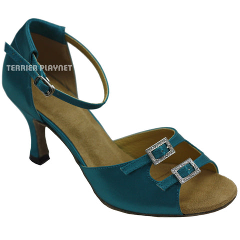 Turquoise Women Dance Shoes D747