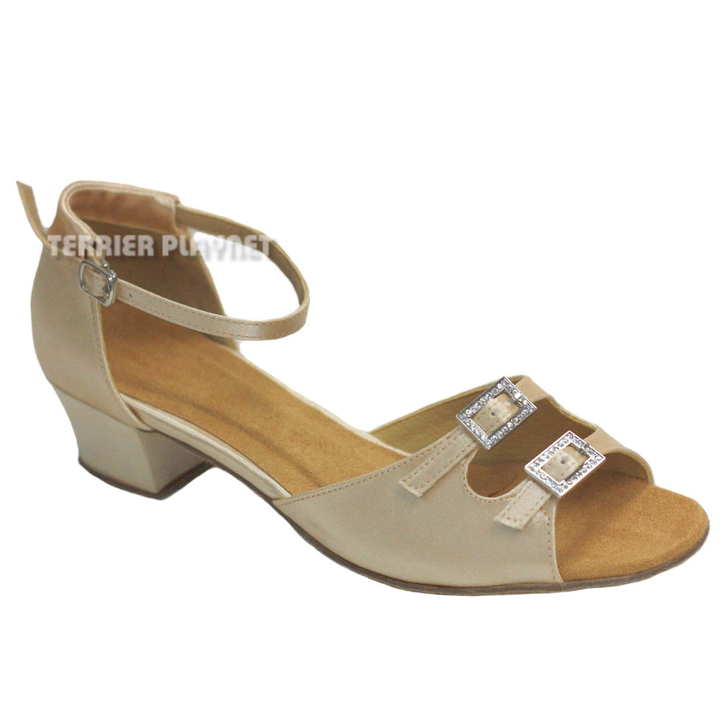 Cream Women Dance Shoes D796