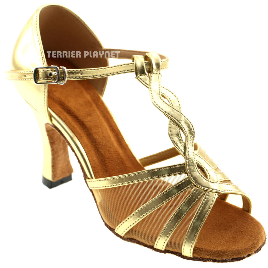 Gold Women Dance Shoes D79