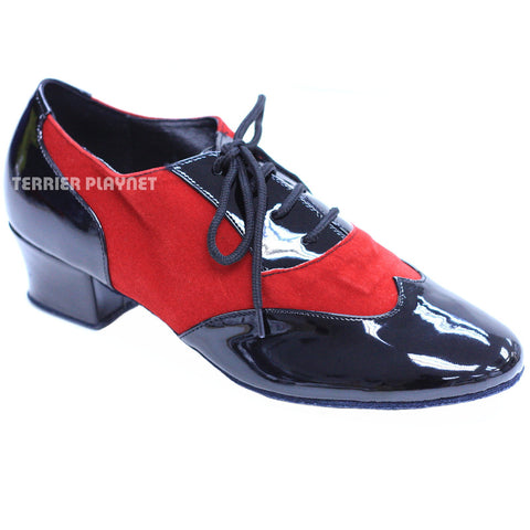Black & Red Women Dance Shoes D823