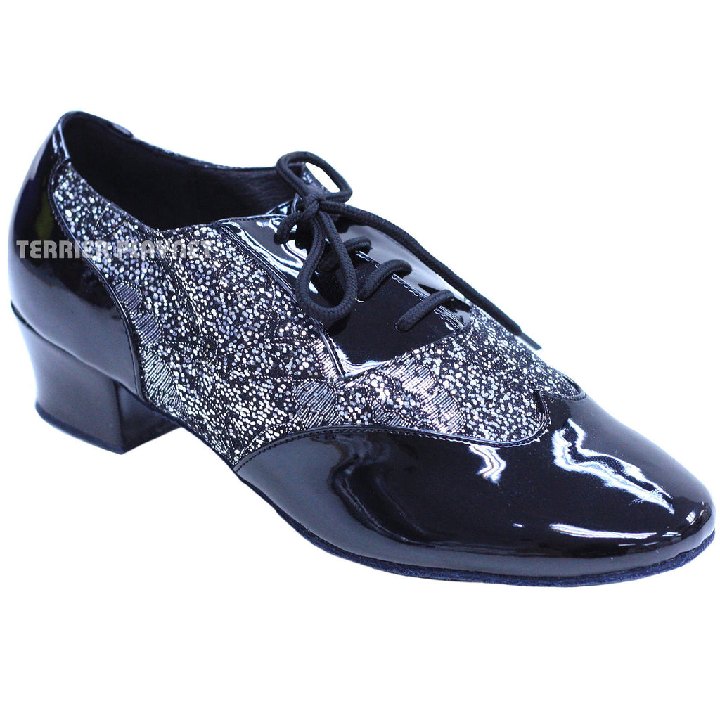 Black & Silver Women Dance Shoes D825