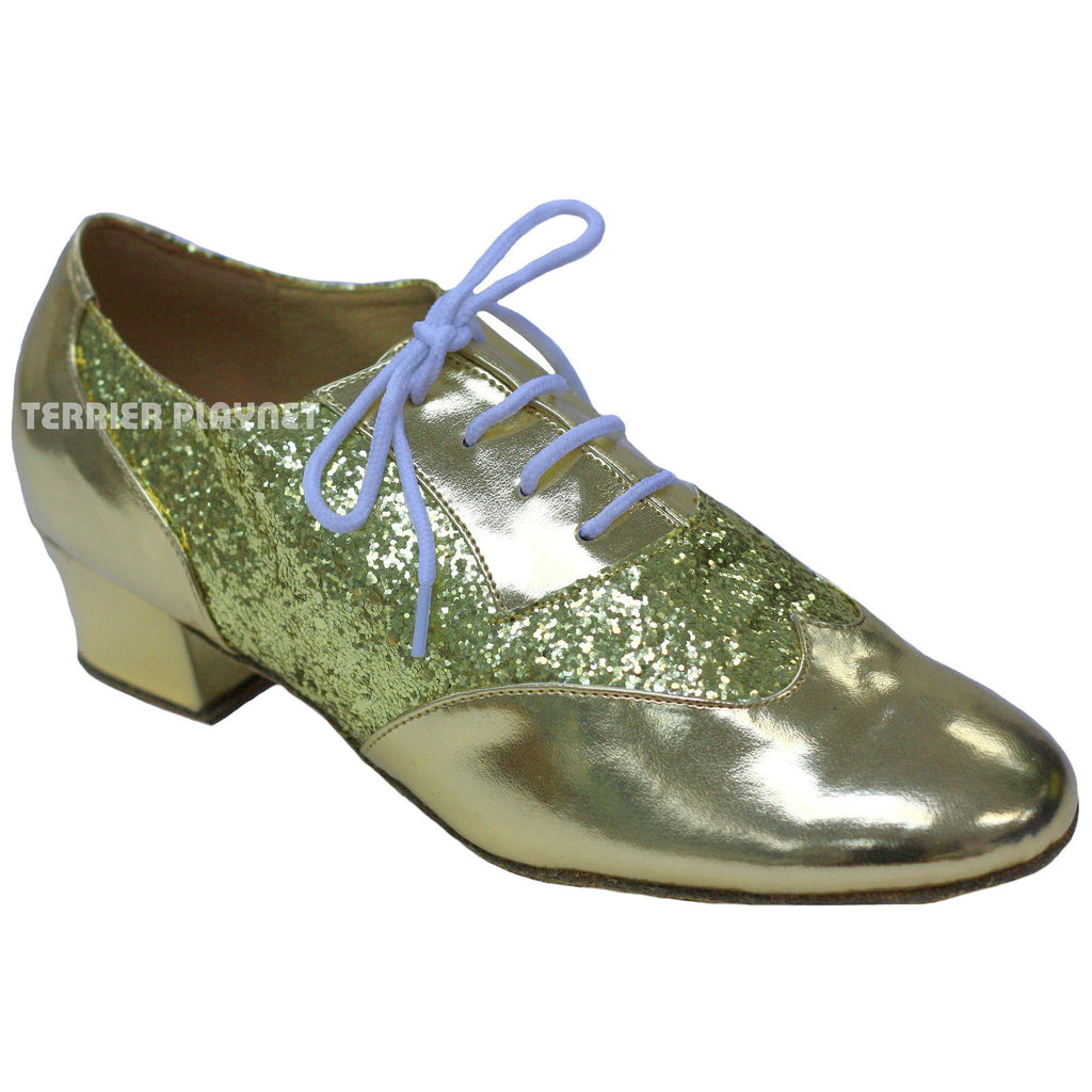 Gold Women Dance Shoes D835