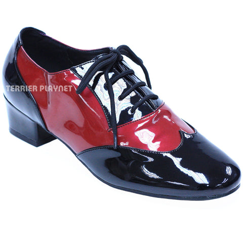 Black & Red Women Women Dance Shoes D843