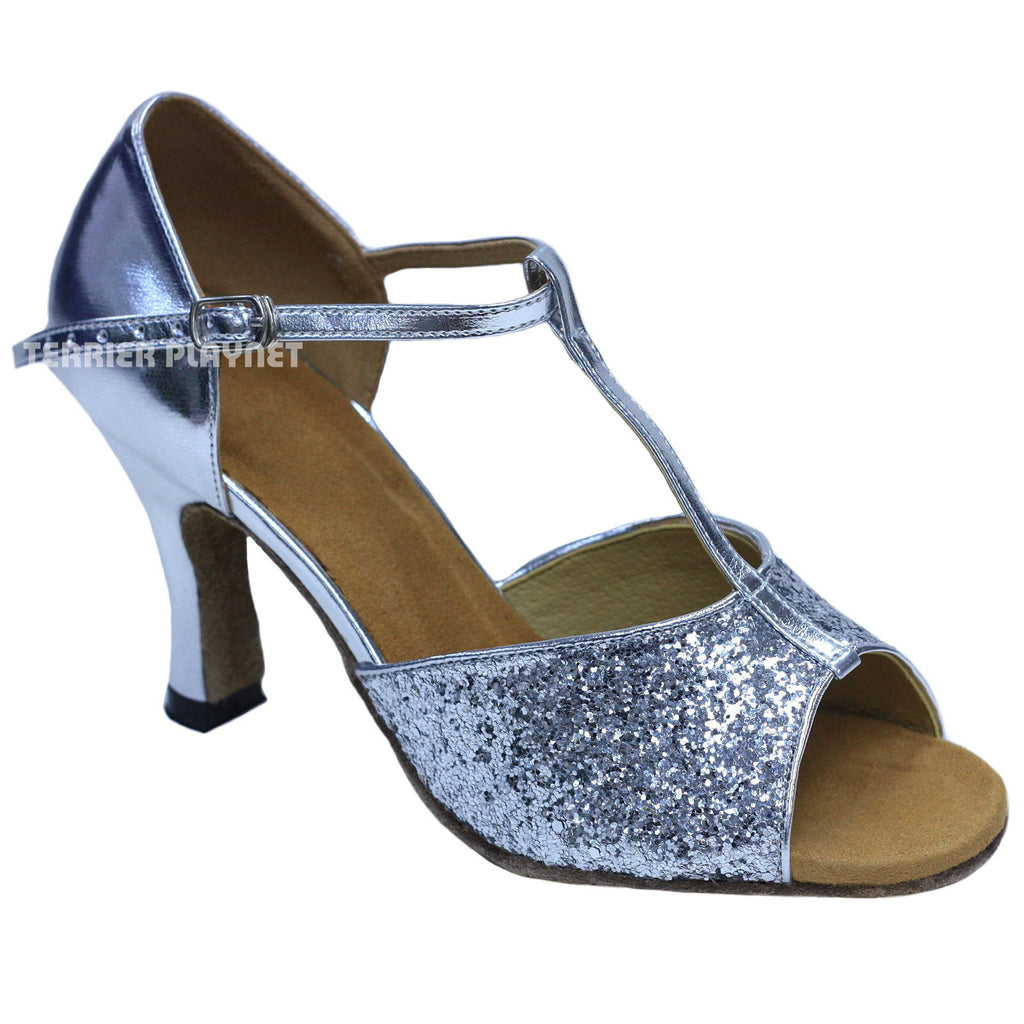 Silver Women Dance Shoes D844