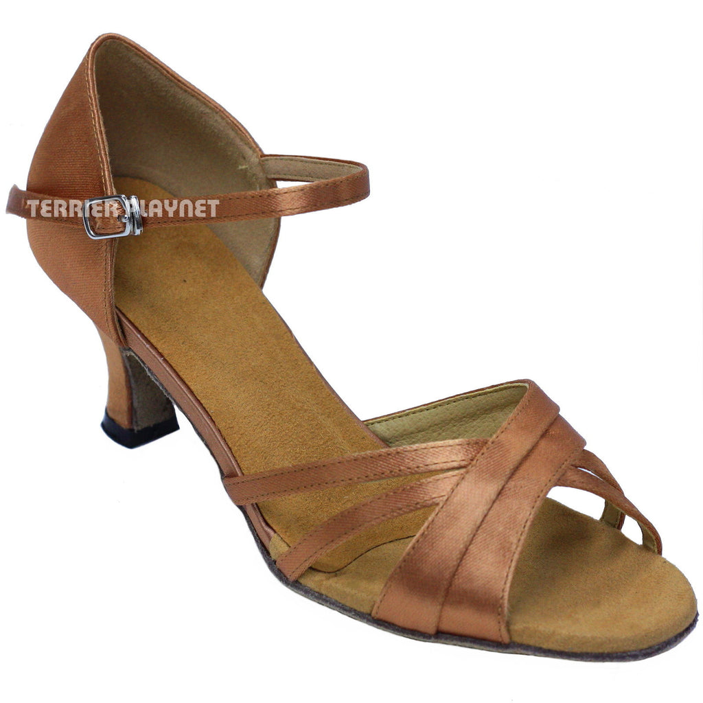 Tan Women Dance Shoes D853