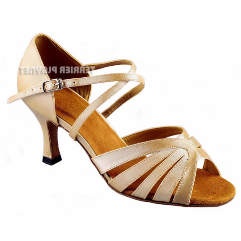 Cream Women Dance Shoes D857