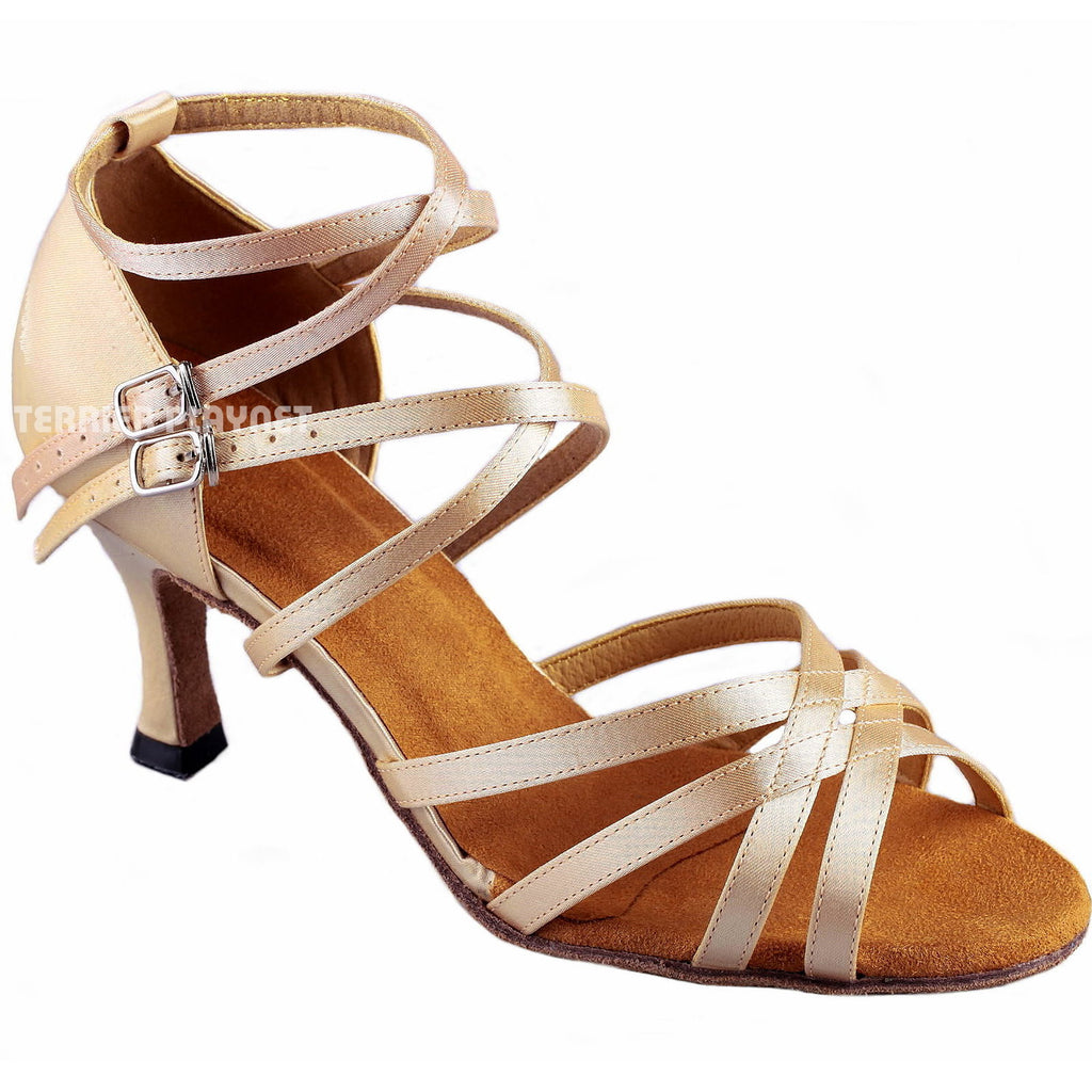 Cream Women Dance Shoes D863