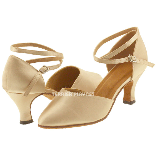Cream Women Dance Shoes D892
