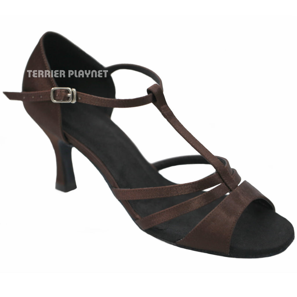 Brown Women Dance Shoes D934