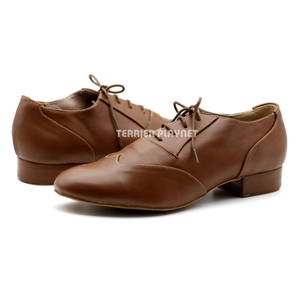 High Quality Brown Leather Men Dance Shoes M85