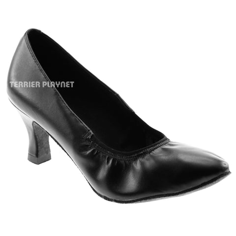 High Quality Black Leather Women Dance Shoes D979