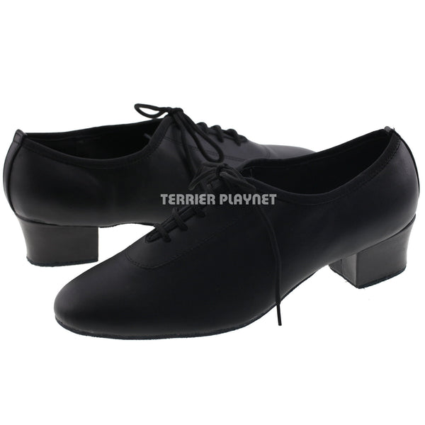High Quality Black Leather Women Dance Shoes D998