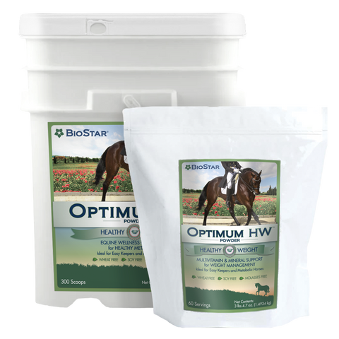 Optimum EQ Healthy Weight for metabolic horses, insulin resistant (IR) horses, Cushing's horses, and easy keepers | BioStar US