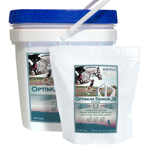 Optimum Senior JS multivitamin supplement and joint support for older horses | BioStar US