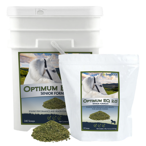 Optimum EQ Senior Multivitamin & Mineral Supplement for Older Horses | BioStar US