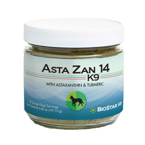 Asta Zan 14 antioxidant & anti-inflammatory whole food supplement for dogs by BioStar US