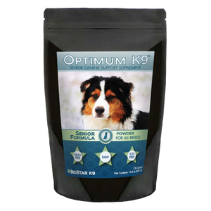 Optimum K9 Senior Multivitamin Supplement for Older Dogs | BioStar US