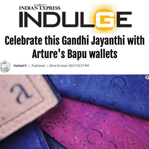Arture's Bapu wallets for Gandhi Jayanthi