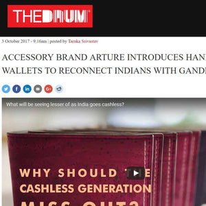 Arture's handmade Bapu wallets for Gandhi Jayanthi