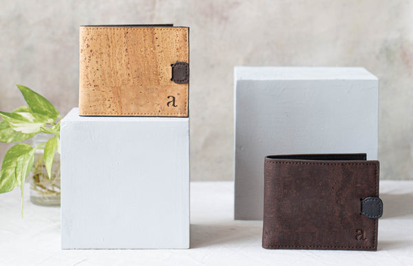 men's vegan wallet minimal