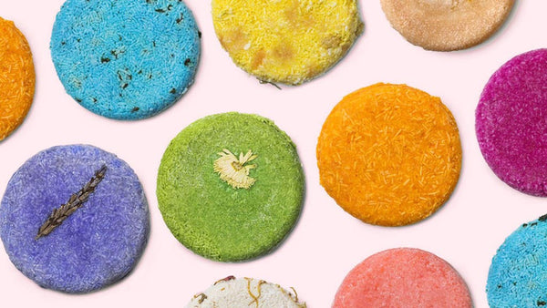 Shampoo bars for sustainable travel