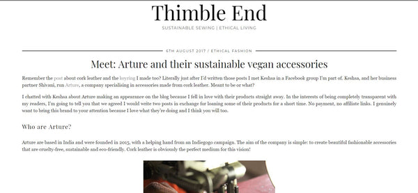 Sustainable vegan fashion accessories - Arture