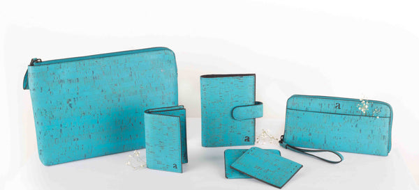Arture Teal Cork Wallets
