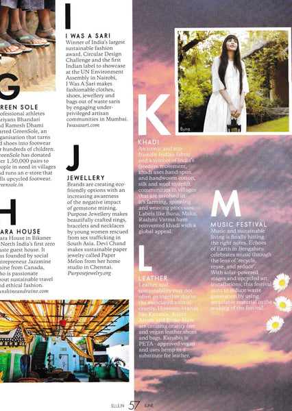 Elle India A-Z Sustainability Guide
