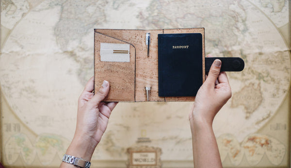 Eco-friendly travel cork accessories