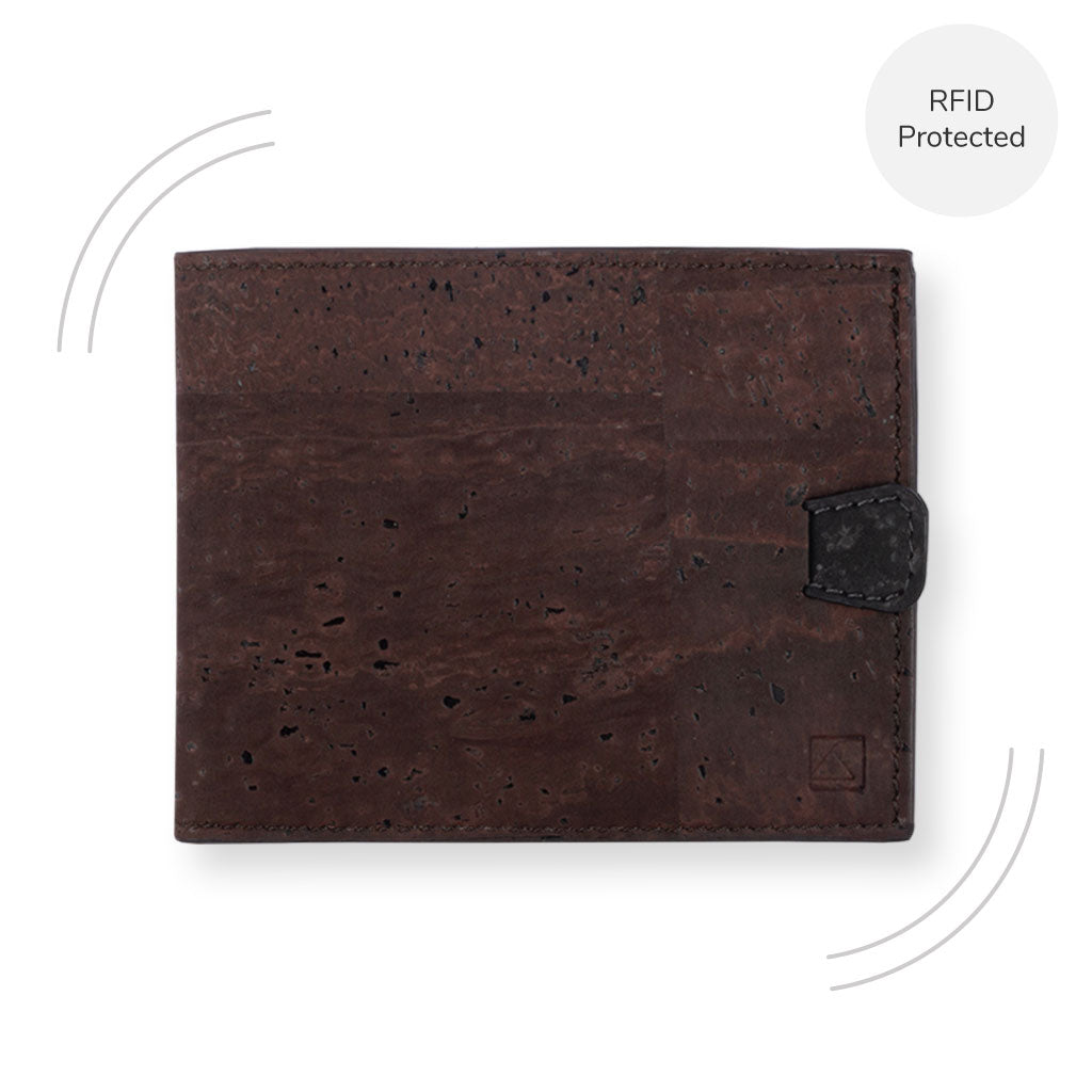 Arden Minimal Wallet - Brown + Black