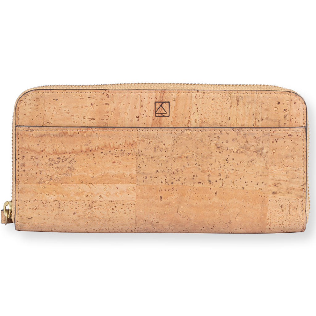 Willow Zip-around Wristlet - Natural