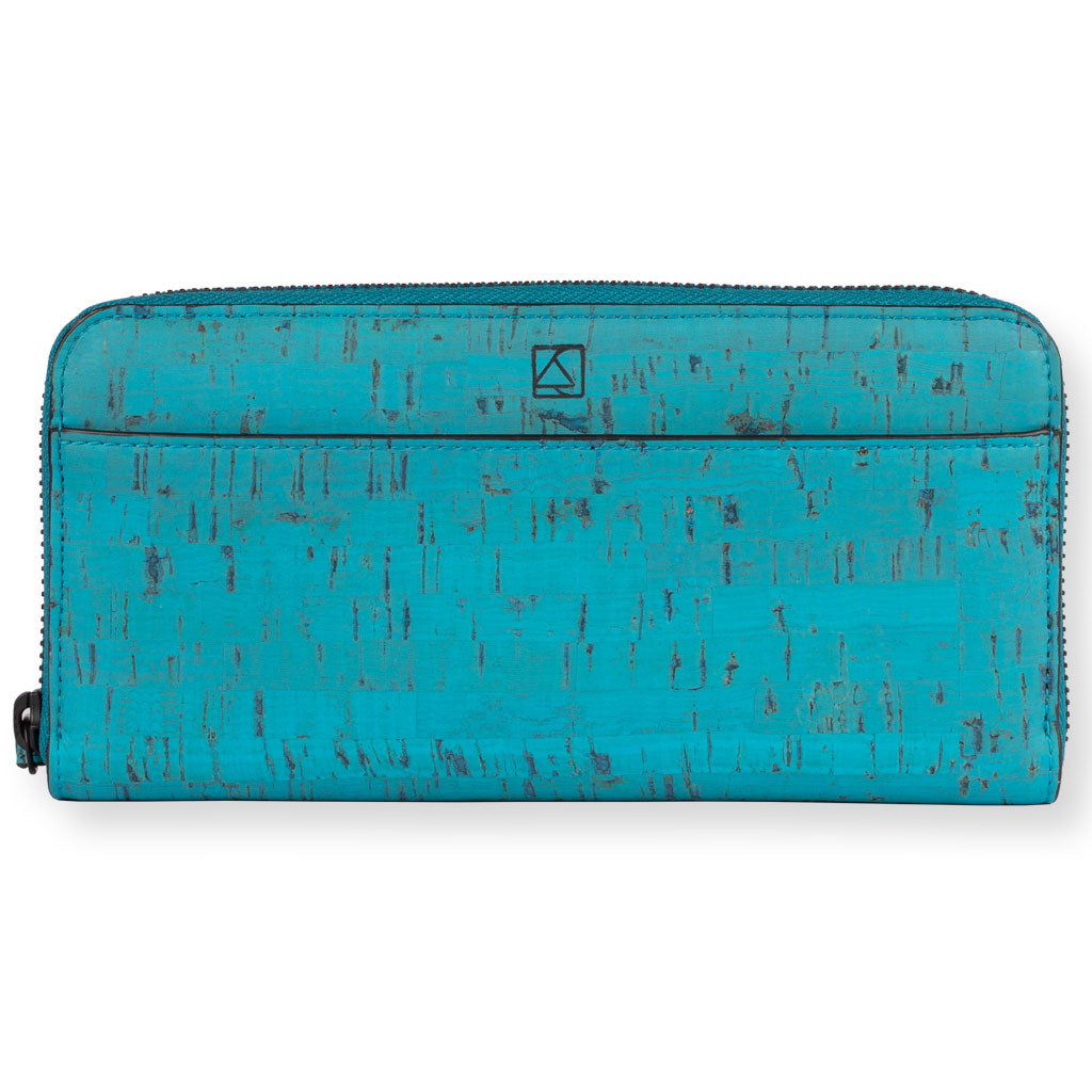 Willow Zip-around Wristlet - Teal
