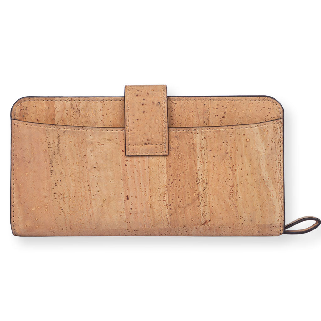 Kim Clutch Wallet - Natural + Brown