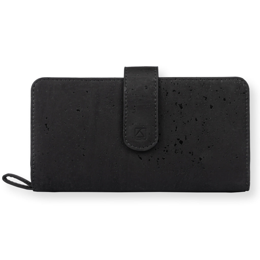 Kim Clutch Wallet - Black + Maroon