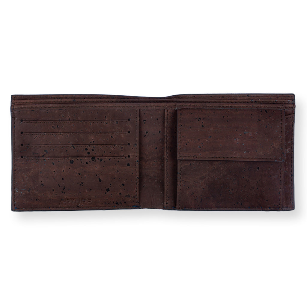Glen Men's Coin Wallet - Blue + Brown