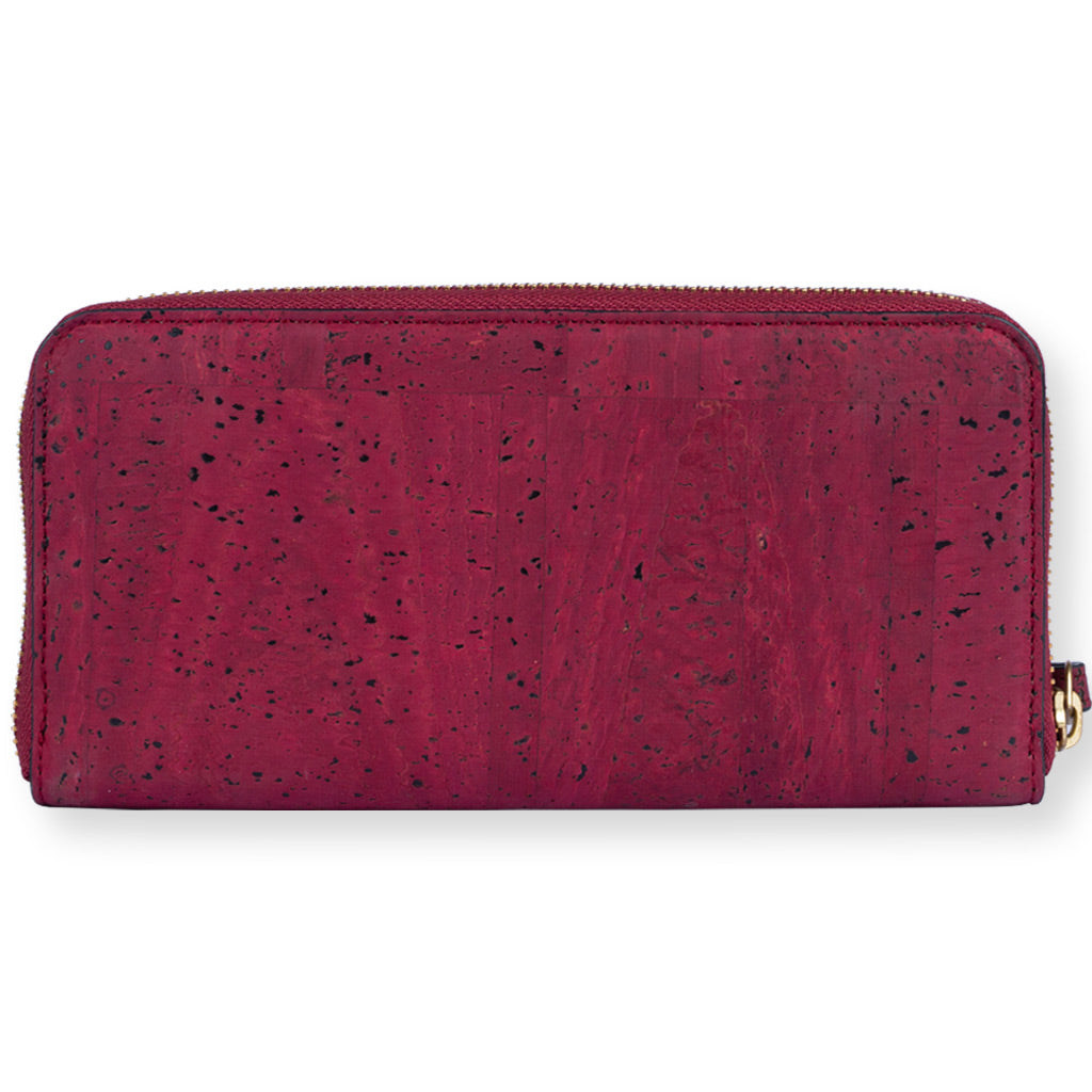 Willow Zip-around Wristlet - Maroon