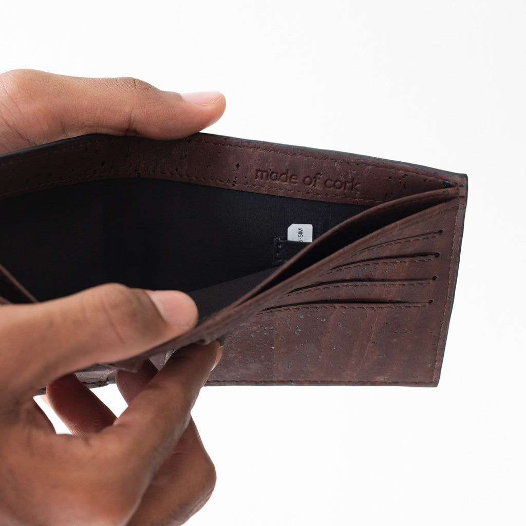 Gale Men's Slimfold Wallet - Black + Brown