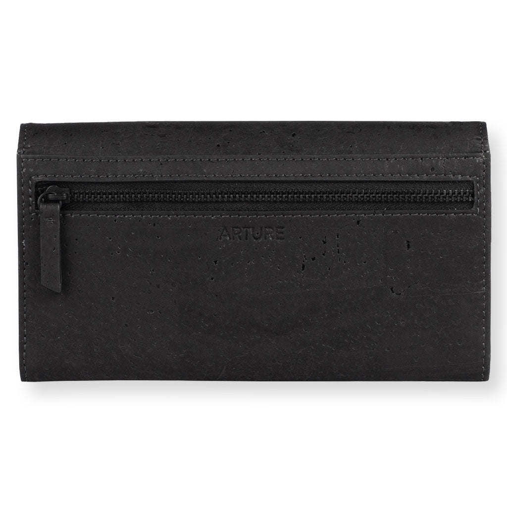 Ela Trifold wallet - Black