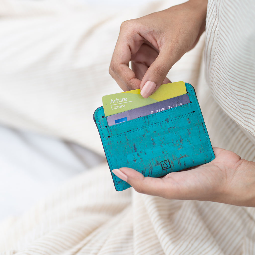 Reilly Card Case - Teal