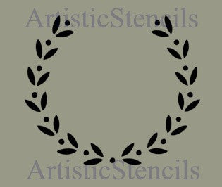 Blank Wreath Stencil Various Sizes