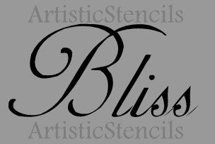 Bliss Stencil - Various sizes